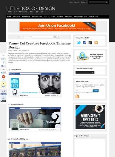 図5 面白いFacebookタイムラインのショーケース
