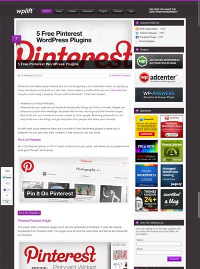 図3 Pinterestとの連携に使えるWordPressプラグインいろいろ