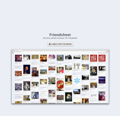 図6 Facebookを写真中心で見るサービス