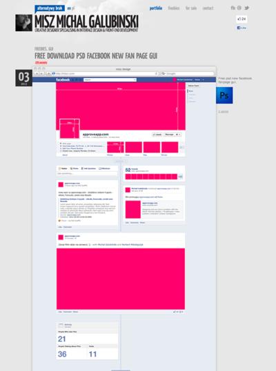 図2 Facebookページのタイムラインレイアウトのテンプレートファイル