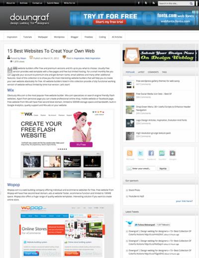 図2 Webサイトを簡単に作成できる各種サービス