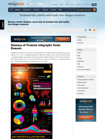 図5 インフォグラフィックス向けのベクター素材各種