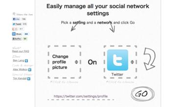 図6 各種ソーシャルメディアの設定変更の手助けをするサービス