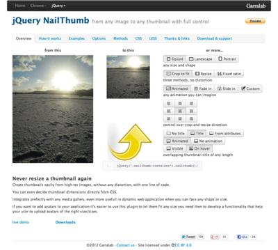 図3 サムネイル画像を作成できるjQueryプラグイン