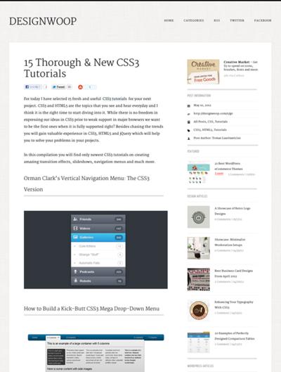 図3 CSS3のチュートリアルいろいろ
