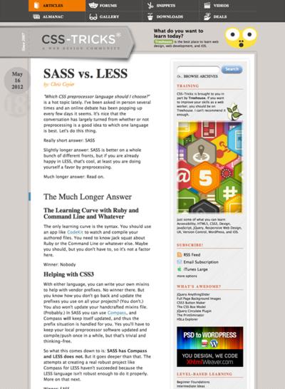 図5 SASS対LESS