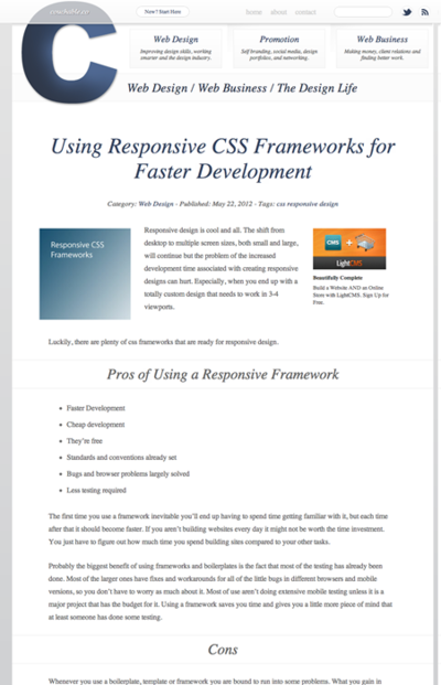 図1 レスポンシブWebデザインのためのCSSフレームワークまとめ