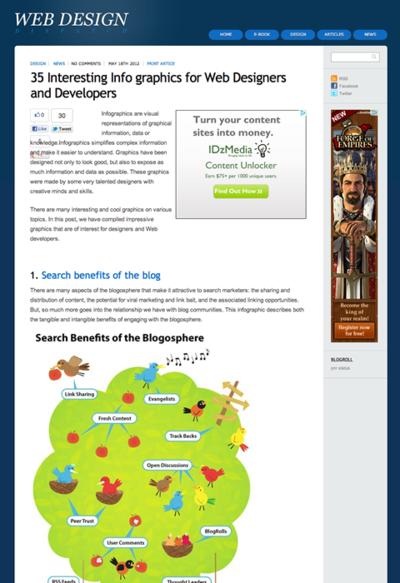 図5 ネット関連の話題を題材にしたインフォグラフィックス