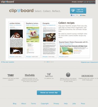 図6 Webページ内の任意の場所をクリッピングできるサービス