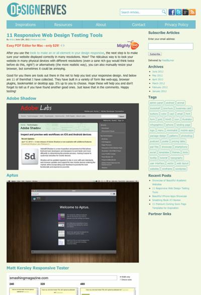図2 レスポンシブWebデザインの表示チェックツールいろいろ