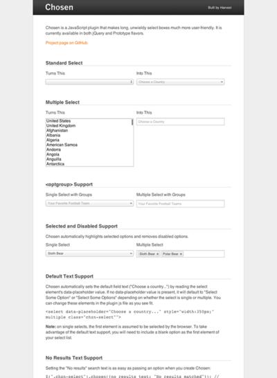 図4 セレクトボックスをユーザーフレンドリーにするJavaScriptプラグイン