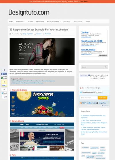 図2 レスポンシブWebデザインのギャラリー