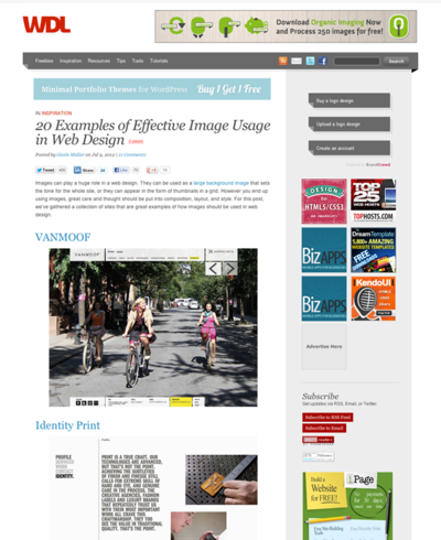 図4 画像を効果的に使ったWebデザインのショーケース