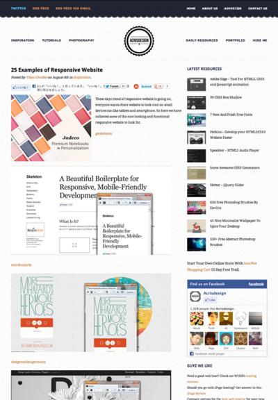 図3 レスポンシブWebデザインのサイトギャラリー
