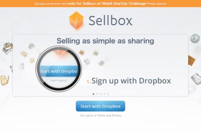 図6 Dropbox上のファイルを販売できるサービス