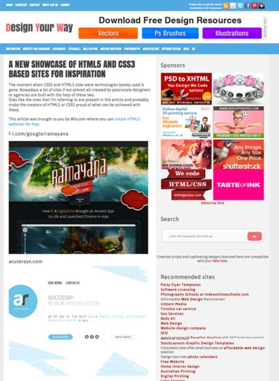 図4 インスピレーションを受けられるHTML5&CSS3サイトのショーケース