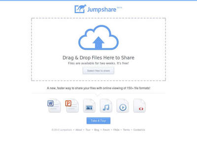 図6 簡単お手軽なファイル共有サービス