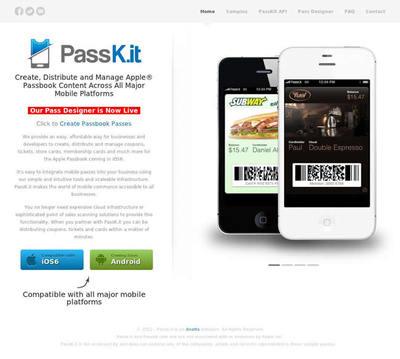 図6 Passbook用のパスを簡単に作成・管理できるサービス
