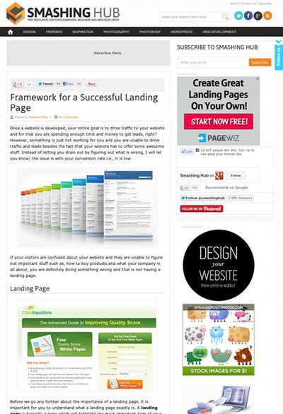 図1 成功するランディングページを作るための基本事項