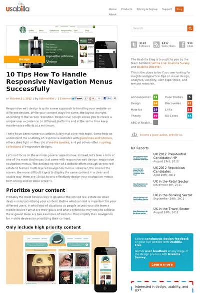 図1 レスポンシブなナビゲーションメニューをうまく実現するためのテクニック