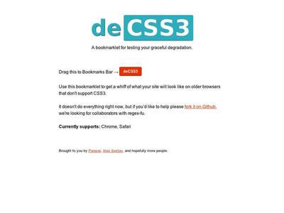 図4 CSS3の新機能を無効にするブックマークレット