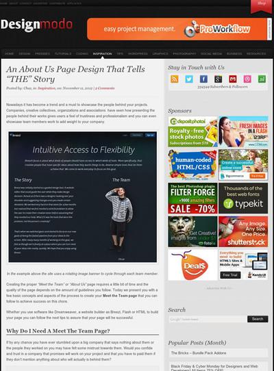 図3 About usページのデザインについて