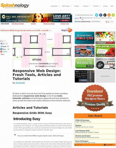 図2 レスポンシブWebデザイン関連記事のまとめ
