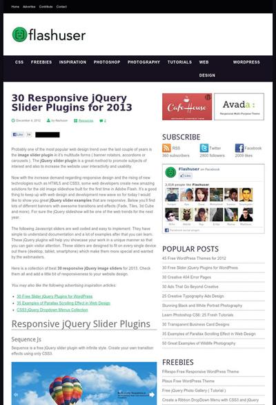 図2 レスポンシブなスライダーを実現するjQueryプラグイン
