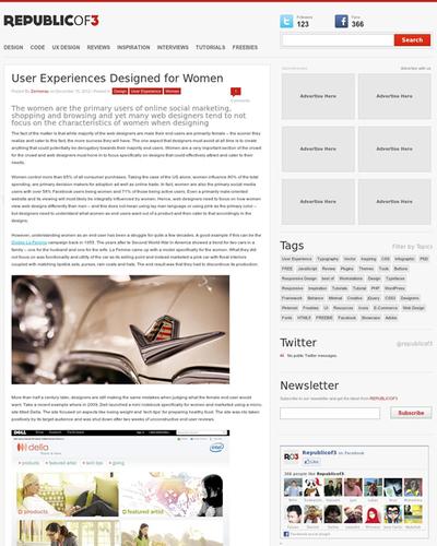 図3 女性のためのユーザーエクスペリエンスデザイン