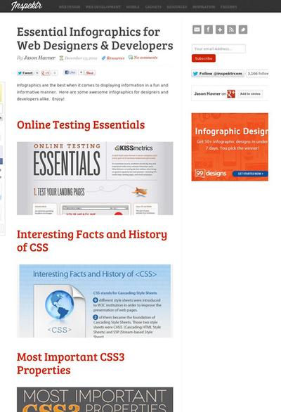 図4 Webデザイナーや開発者のためのインフォグラフィックス