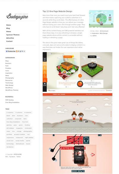 図5 1ページ完結型のWebデザインいろいろ
