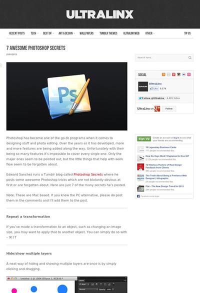 図5 Photoshopの隠れた機能やエクステンション