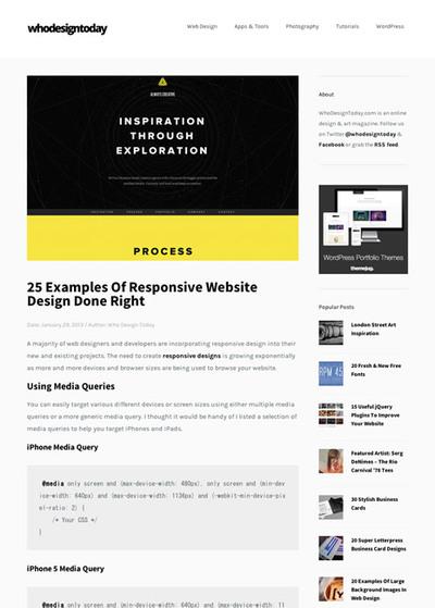 図3 レスポンシブWebデザインのギャラリー