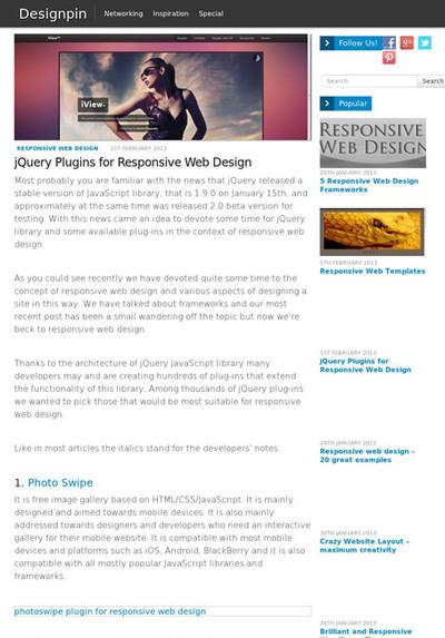 図5 レスポンシブWebデザイン関連のjQueryプラグイン集