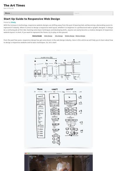 図2 レスポンシブWebデザインを始める人へのガイド記事