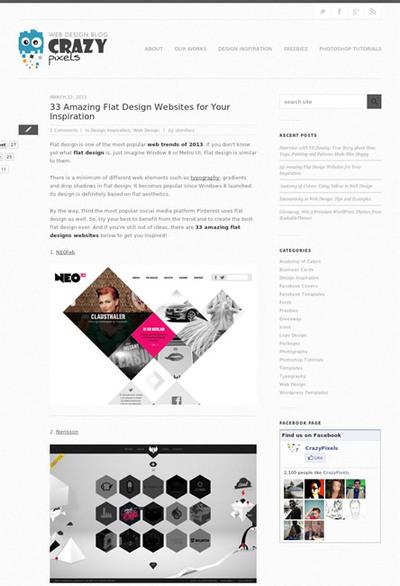 図3 フラットデザインのWebサイトのギャラリー