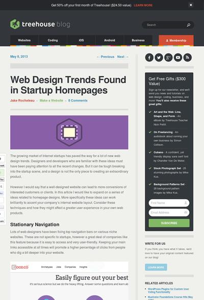 図1 スタートアップのサイトに共通するWebデザインのトレンド