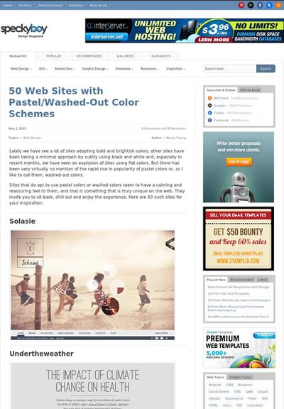 図4 パステルカラー,彩度が抑えめな色を使ったサイトのギャラリー