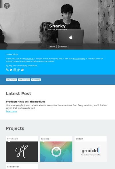 図7 プロフィールページの作例