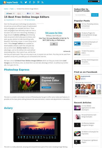 図6 オンラインの画像編集ツールのリンク集
