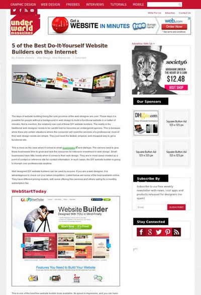 図4 Webサイトを簡単に制作できるツールいろいろ
