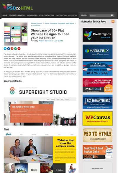 図5 フラットデザインのサイトを30以上紹介