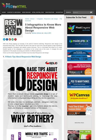 図1 レスポンシブWebデザインに関するインフォグラフィックス