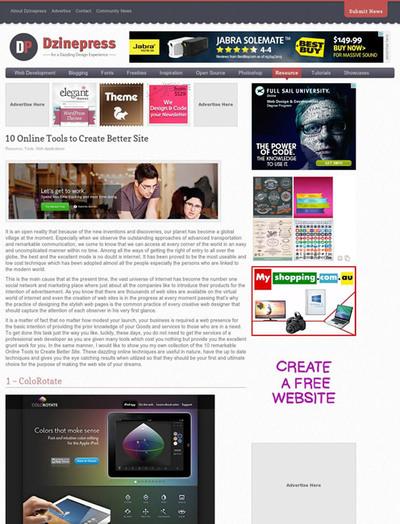 図3 サイト制作に役立つオンラインツールいろいろ