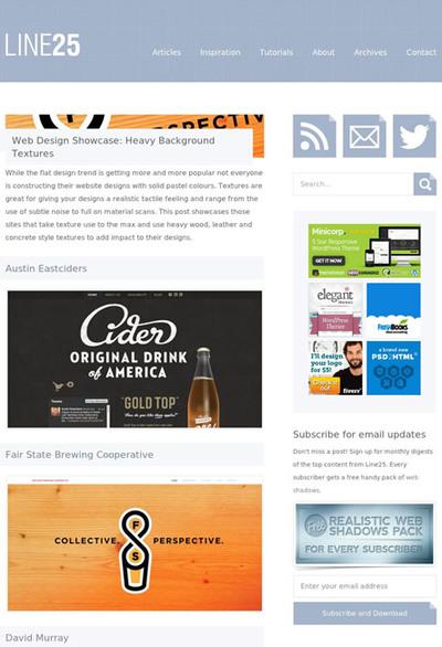 図5 テクスチャ画像を背景に使ったWebデザインのギャラリー