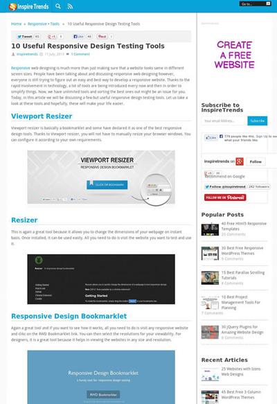図5 レスポンシブWebデザインのためのテスト用ツールいろいろ