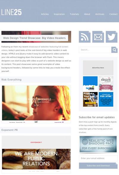 図4 大きなサイズのビデオが使われたサイトのギャラリー&テクニック