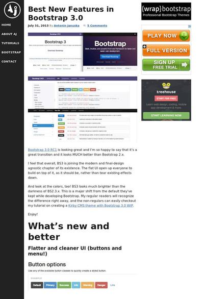 図2 Bootstrap 3の新機能