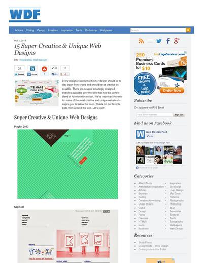 図5 クリエイティブでユニークなWebデザインのギャラリー
