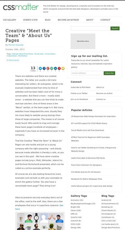 図3 アバウトページの実例集